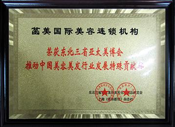 东北三省亚太美博会特殊贡献奖